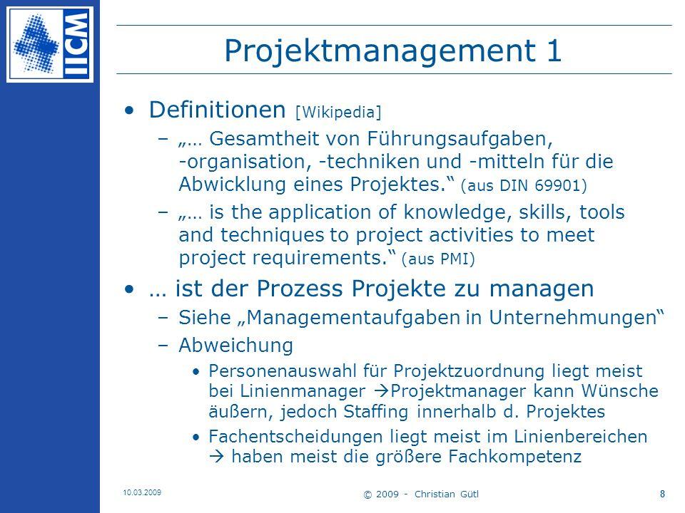 Projektmanagement 1 Definitionen [Wikipedia]